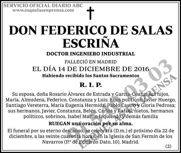 Federico de Salas Escriña